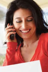 Women on Phone Smiling